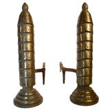 Image of Pair Art Deco Andirons For Sale