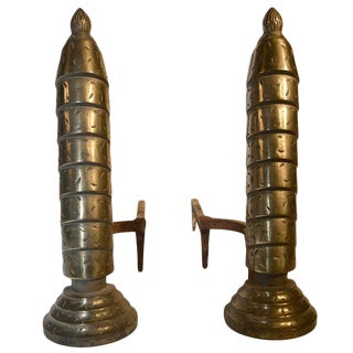 Pair Art Deco Andirons For Sale