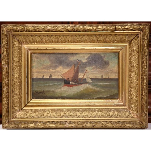 19th Century French Oil on Board Paintings - A Pair - Image 5 of 9