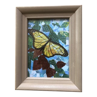 """Butterflies Are Free"" Original Framed Collage For Sale"