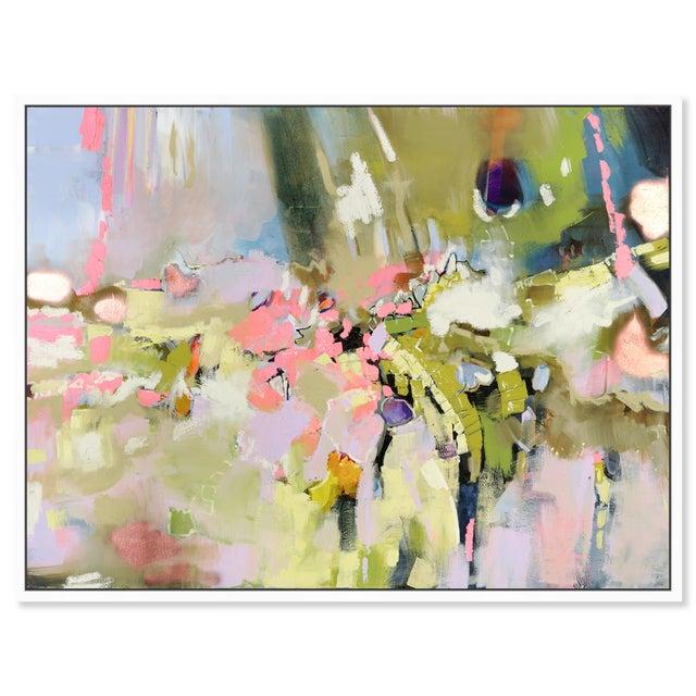 "Printmaking Materials Oliver Gal Medium 'Michaela Nessim - Energy and Breakthrough' Framed Art 24"" x 18"" For Sale - Image 7 of 7"