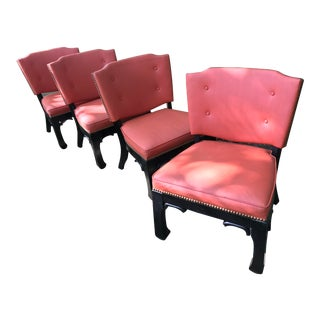 Ming Style Low Slung Game Chairs- Set of 4 For Sale