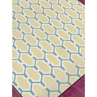 Zara Trellis Yellow Flat-Weave Rug 3'x5' Preview