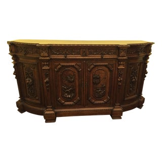 1880 Italian Oak Sideboard For Sale