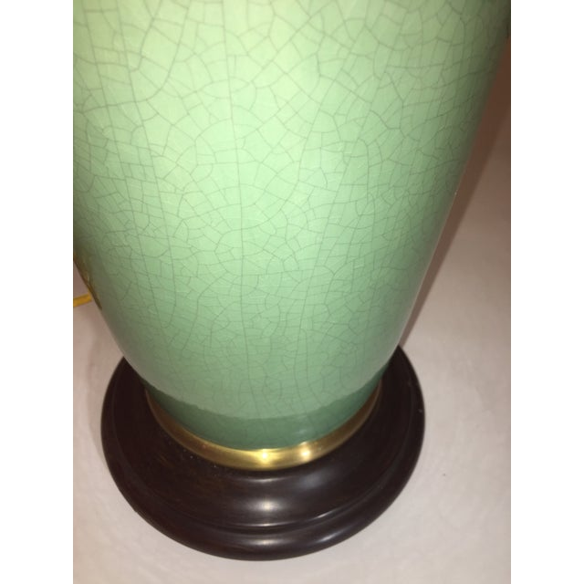Traditional Vintage Frederick Cooper Celadon Table Lamp For Sale - Image 3 of 4