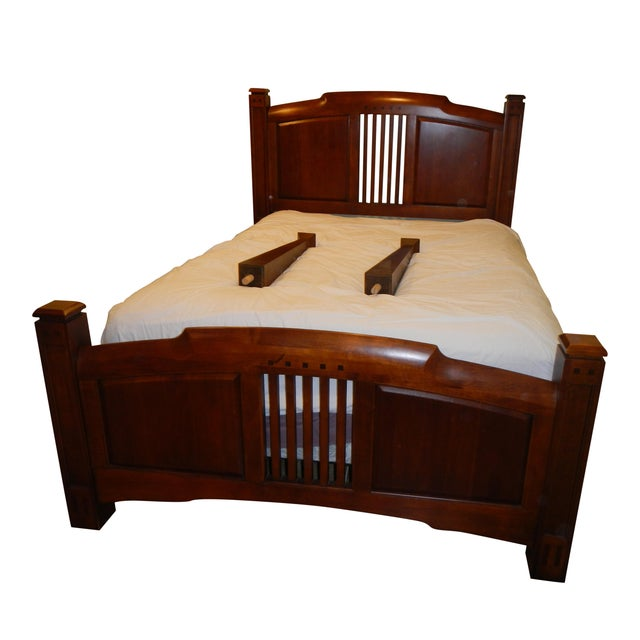 Thomasville Queen Size Cherry Bed - Image 1 of 8
