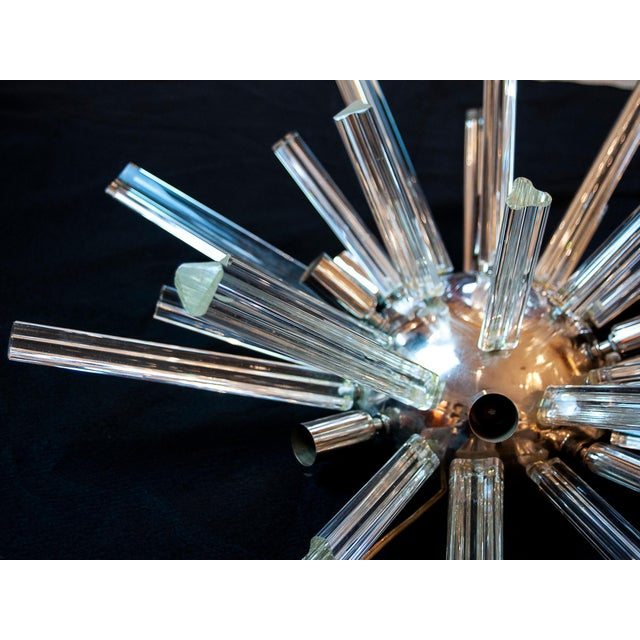 1960s Mid-Century Modern Murano Glass Sputnik Wall Sconces Lights, Circa 1960 - a Pair For Sale - Image 5 of 7