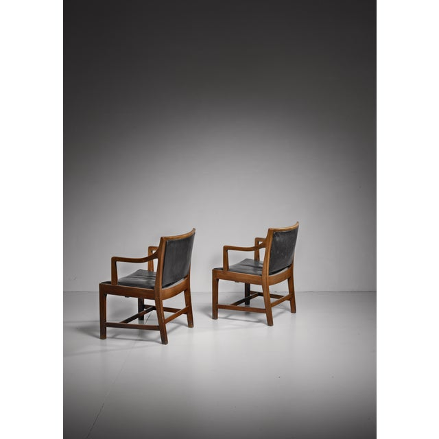 1940s Pair of Kay Fisker attributed Danish armchairs, 1940s/50s For Sale - Image 5 of 7