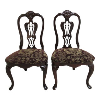Thomasville Solid Mahogany Chippendale Chairs - A Pair