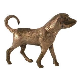 Vintage Brass Egyptian Dog Figurine For Sale