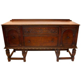 1920s Jacobean Mahogany Sideboard For Sale