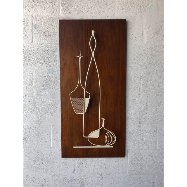 1960s Vintage 1960s Mid Century Modern Wall Sculpture. For Sale - Image 5 of 11