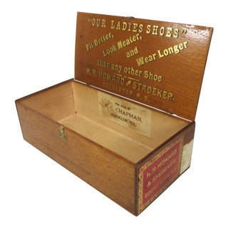 Early 20th Century Antique Mahogany Ladies Shoe Box For Sale