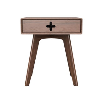 Mid-Century Modern Walnut Nightstand / Bedside Table For Sale