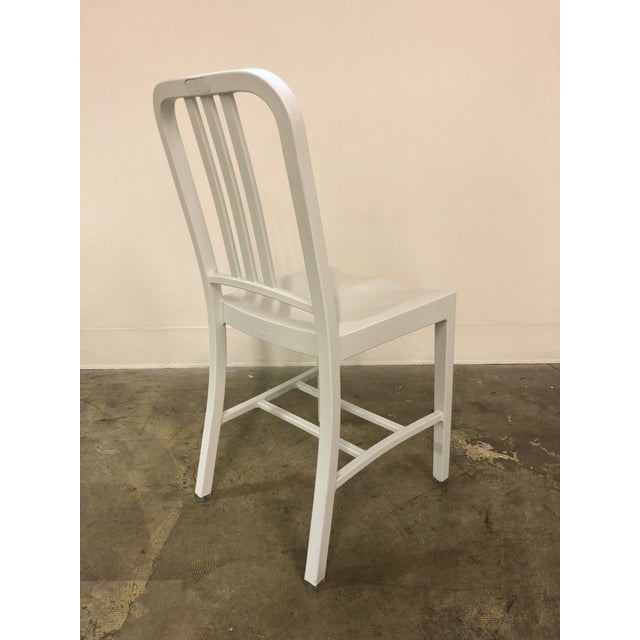 White aluminum Emeco Navy Chairs. Six Available. From Emeco: Product Information A collaboration between Coca-Cola and...