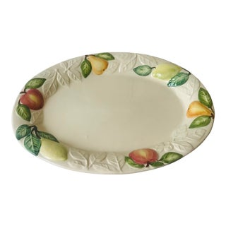 20th Century Portuguese Platter With Fruit Border For Sale