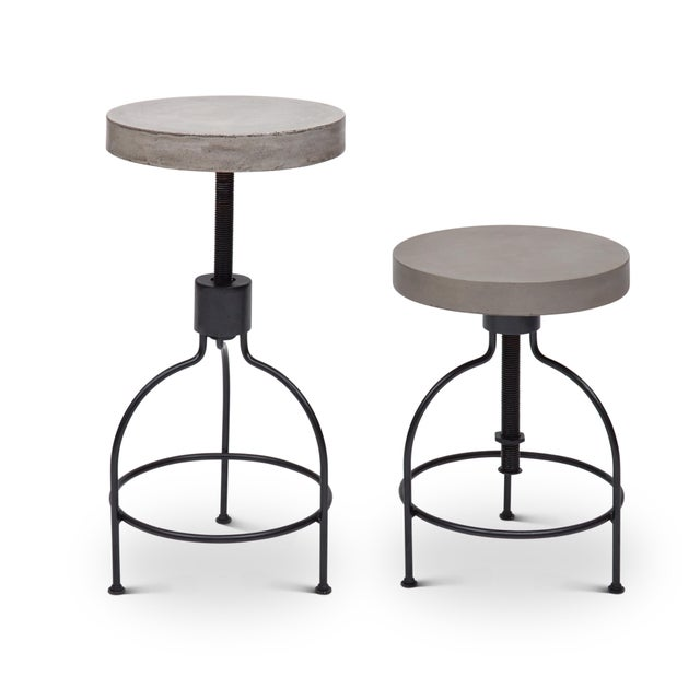 Contemporary Screwy Stool in Dark Gray For Sale - Image 3 of 8