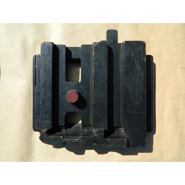 """Pair of unique wall hanging Industrial sculpture. Piece 1: 10"""" x 17.5 x 2"""". Piece 2: 13"""" x 13.5 x 2.5""""."""