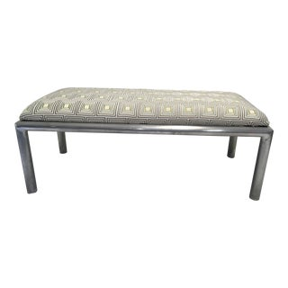 Midcentury Aluminum Bench For Sale