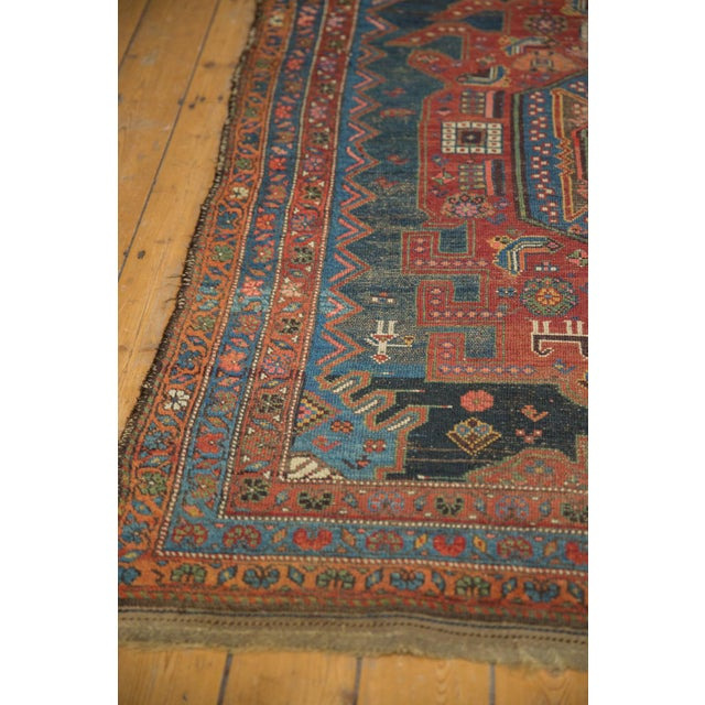 """Old New House Antique Hamadan Rug - 4'9"""" X 7'11"""" For Sale - Image 4 of 13"""