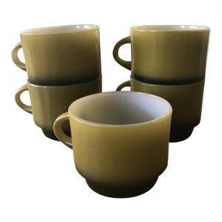Anchor Hocking Fire King Stackable Ombré Mugs - Set of 5
