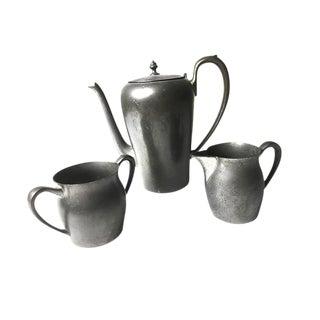 Vintage Solid Pewter Coffee / Tea Set - Set of 3 For Sale