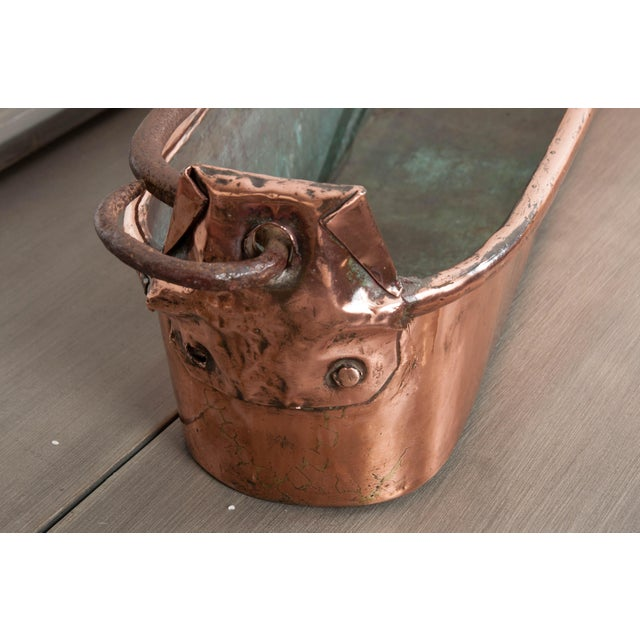 Metal French 19th Century Copper Long Fish Kettle or Poisonierre For Sale - Image 7 of 8