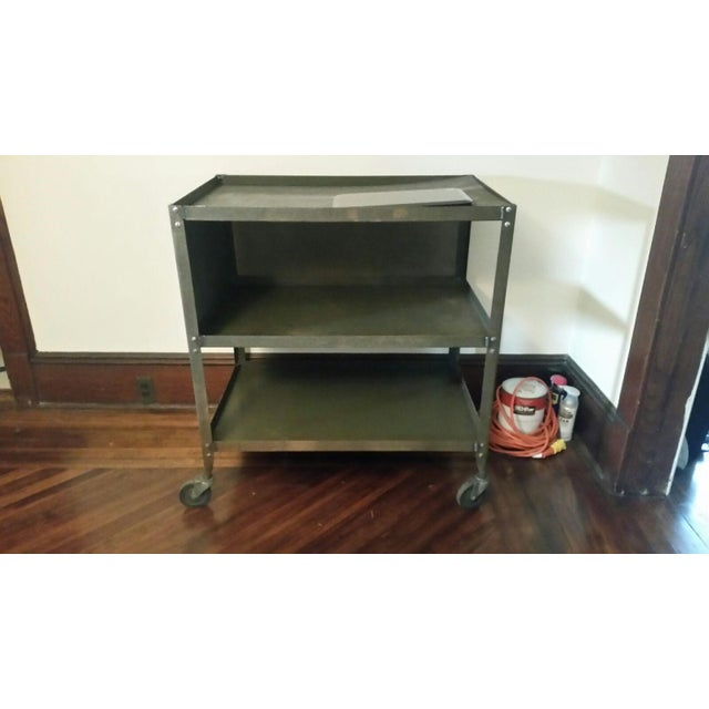 Grey-Green Industrial Machinists Cart - Image 2 of 3