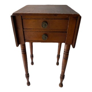 Federal Cherry Drop Leaf End Table For Sale