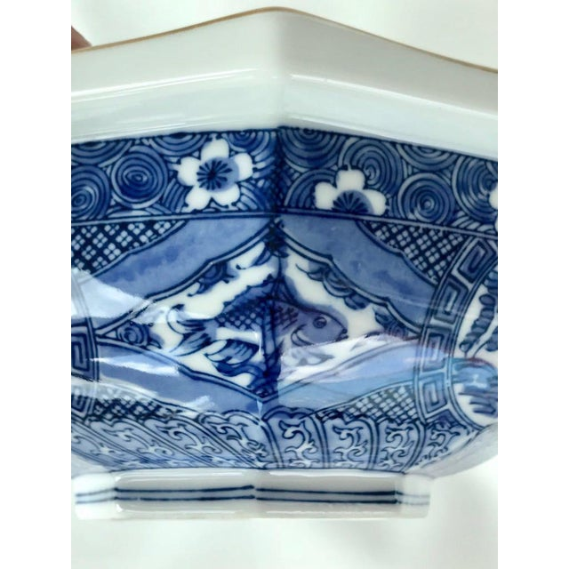 Japanese Blue & White Bowl For Sale - Image 5 of 7
