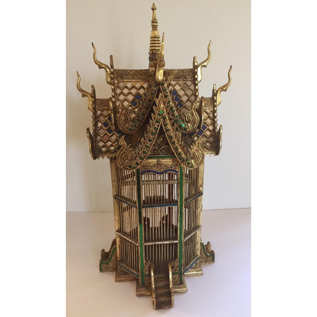 Asian Spirit House Thai Shrine Temple Bird Cage For Sale - Image 12 of 12