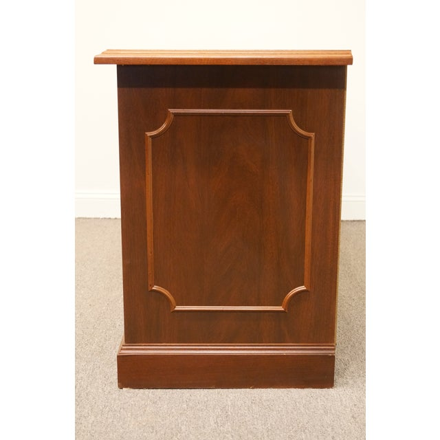 20th Century Traditional Miller Desk Solid Cherry Executive Office Credenza For Sale - Image 10 of 13