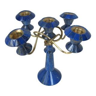 Lapis Lazuli Candelabra For Sale