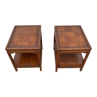 Vintage Hekman Furniture End Tables - a Pair For Sale