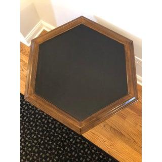 Mid-Century Modern Ethan Allen Slate Top Hexagonal Side Table -Outstanding! Preview