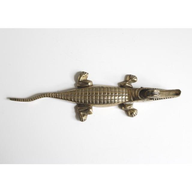 Vintage Brass Alligator or Crocodile Nutcracker For Sale - Image 4 of 6