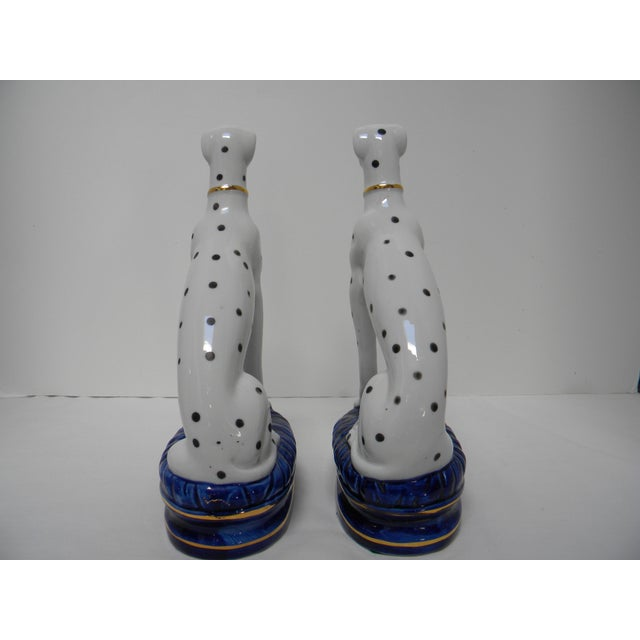 Staffordshire Style Dalmatian Bookends - a Pair For Sale - Image 4 of 10