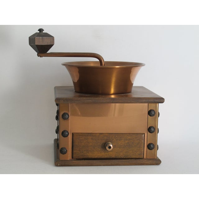 Copper and Walnut Coffee Grinder - Image 5 of 7