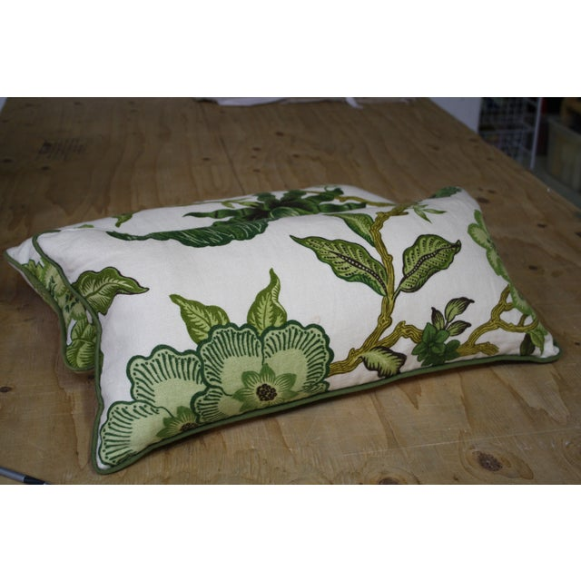 This pair of Celerie Kemble for Schumacher lumbar pillows make for a great accent on any seating or bedding arrangement....