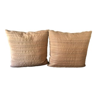 Christopher Hyland Horse Hair Throw Pillows - a Pair