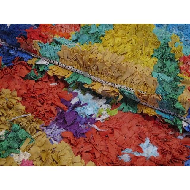 "Moroccan ""Boucherouite"" Rug For Sale - Image 9 of 9"
