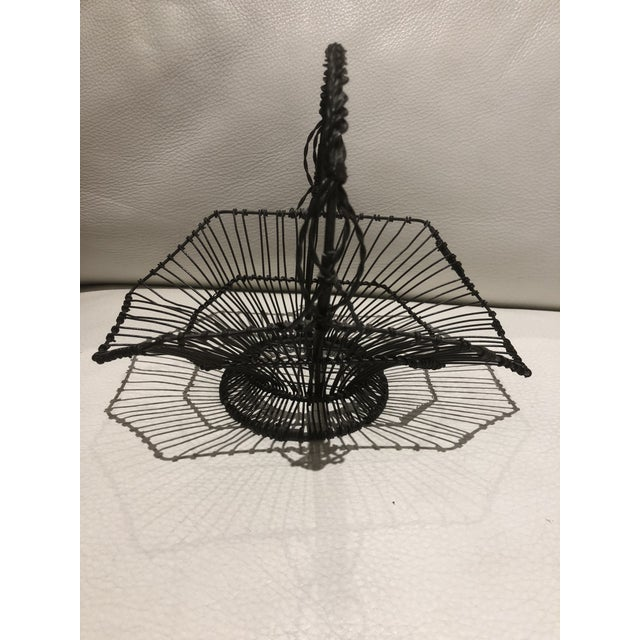 French Wire Basket For Sale In Miami - Image 6 of 6