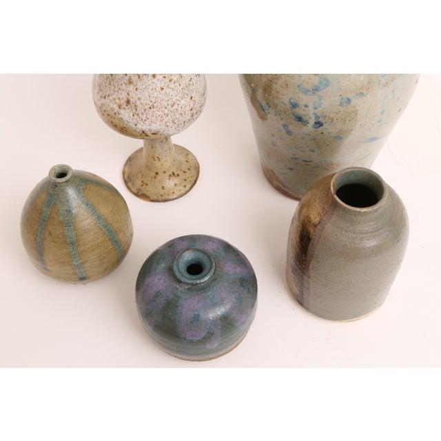Mid-Century Modern Handmade Studio Pottery Vases - Set of 5 - Image 3 of 5