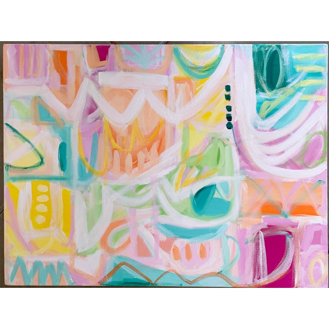 """2020s """"Ritmo"""" Abstract Painting by Christina Longoria For Sale - Image 5 of 5"""