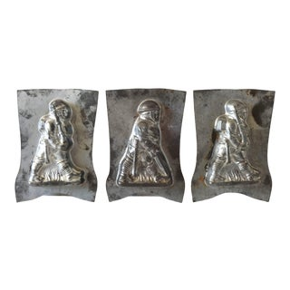 Vintage World War I American Soldier Chocolate Molds - Set of 3 For Sale
