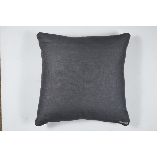 2010s Indian Handwoven Pillow in Sunset Stripes For Sale - Image 5 of 6
