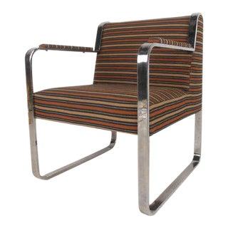 Vintage Modern Milo Baughman Style Armchair For Sale