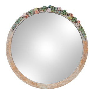 Round Mirror With Flowers For Sale