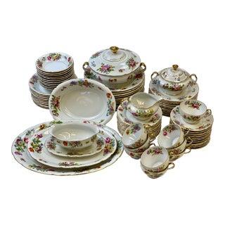 Vintage Victoria Czech Dinnerware & Serveware - Set of 85 For Sale