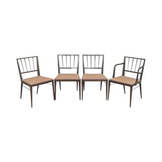 Dunbar Edward Wormley Mid Century Modern Mahogany Dining Chairs - Set of 4 For Sale